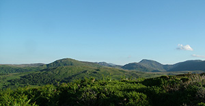 The Carneddau Mountains from Pen-y-Gaer,  Conwy Valley